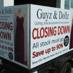 Guyz & Dollz trailer sign by Absolute Signs