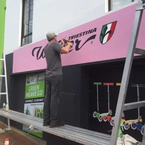 hand painted shopfront