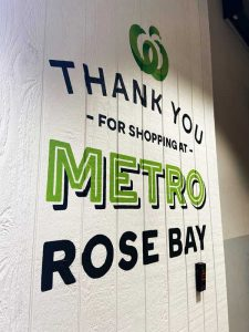 Woolworths metro sign