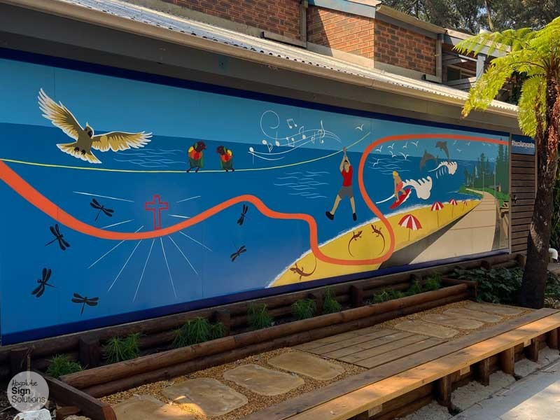 hand painted mural at The Collaroy Centre The Salvation Army