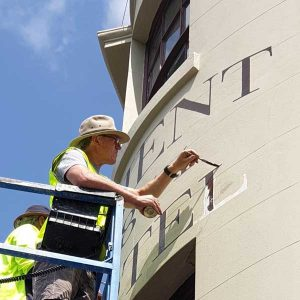 signwriting the rocks sydney