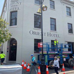 signage orient hotel