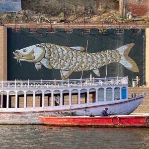 Varanassi mural - Ganges